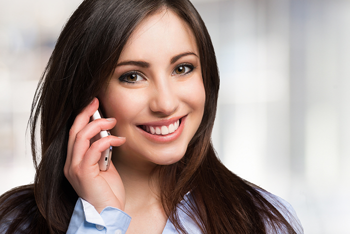 woman talking on the phone for Antenna repair