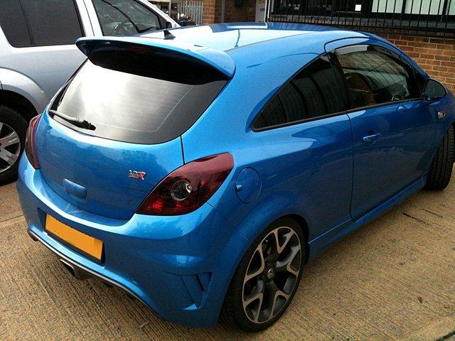 Tinted windows - Washington, Tyne and Wear - Tints Window Tinting - blue car