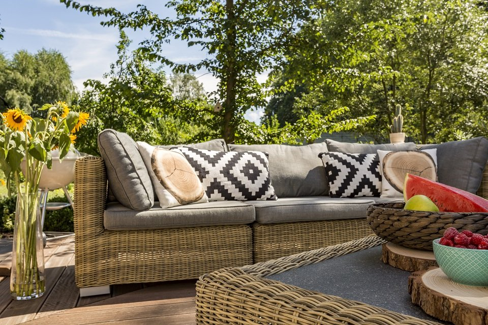Arredi e sedie in vimini castelvetrano tp d 39 antoni rattan - Arredamenti per giardini e terrazzi ...