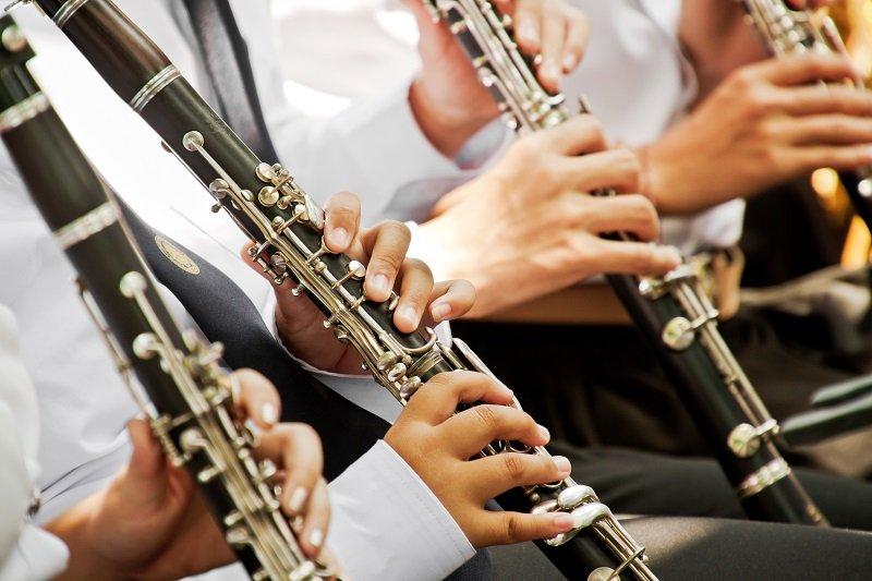 Clarinet player musical performance