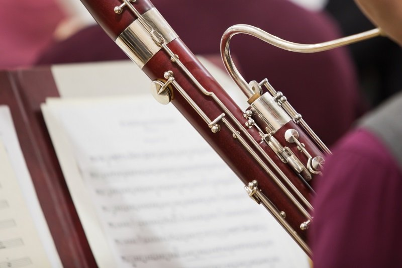 Detail of the bassoon closeup