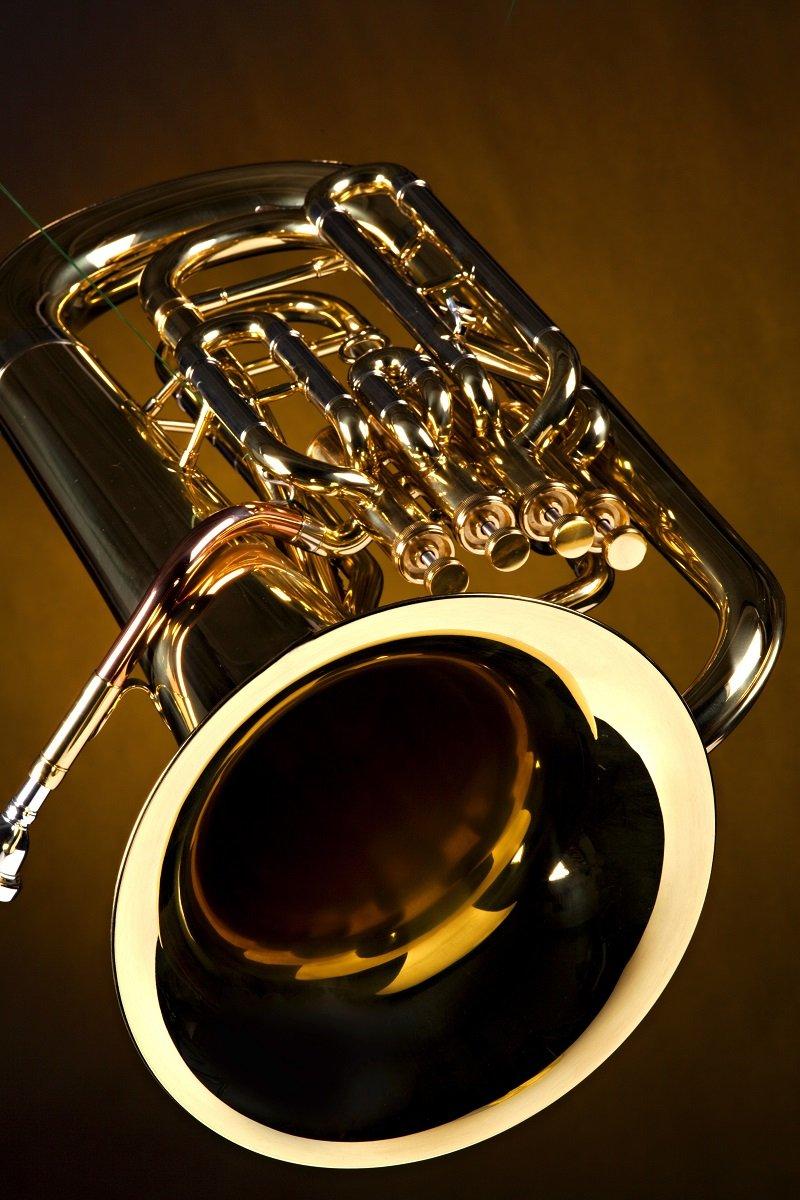 Gold color brass tuba euphonium