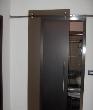 Porte in cristallo casale monferrato vetraria casalese - Meccanismo porta scorrevole ...