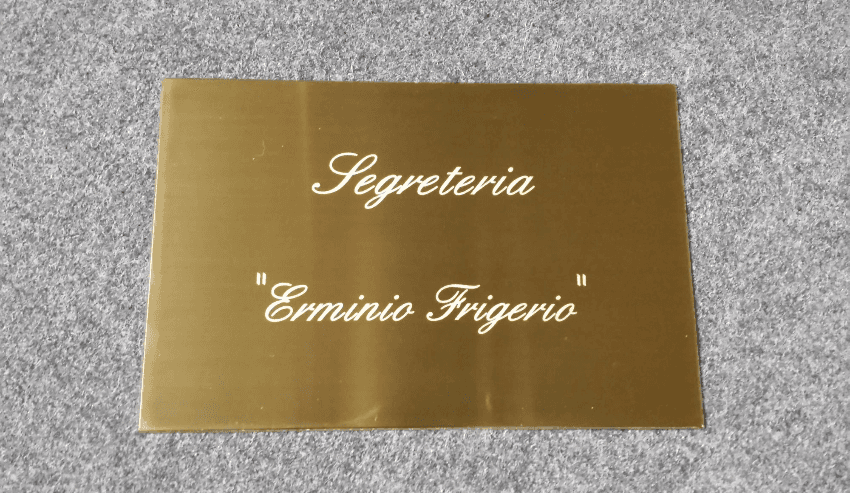 TARGHE IN OTTONE   200X300X2 smusso lucido