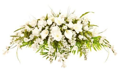composizione floreale per cerimonia funebre