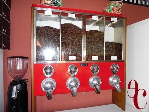 erogatore caffè in chicchi