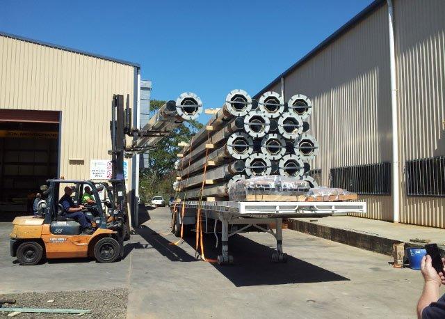 galvanized light poles