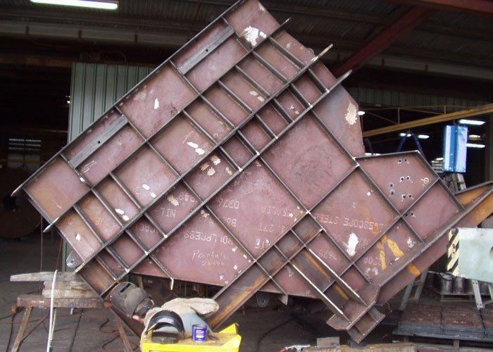 steel weigh bin