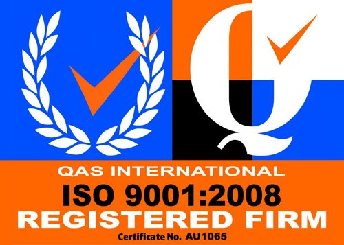 qas internation iso 9001:2008 registered firm logo