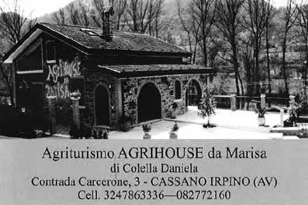 Locandina storica agriturismo Agrihouse Marisa