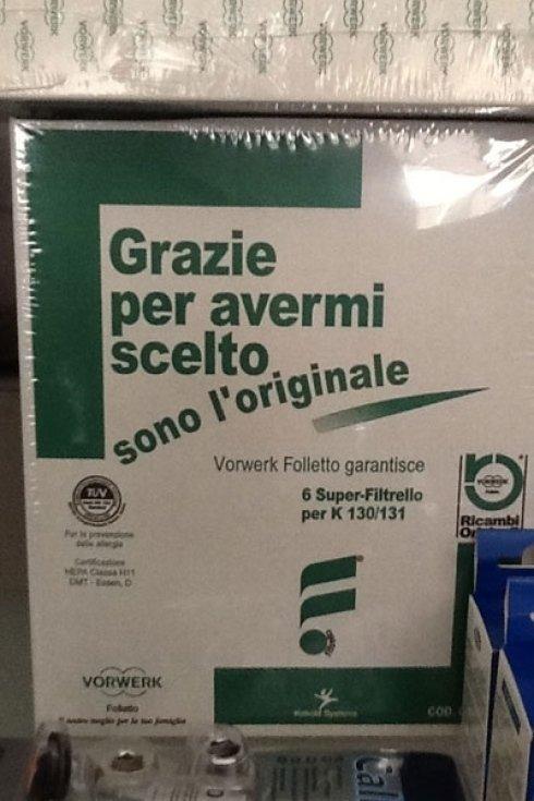 Vendiamo anche i ricambi della famosa aspirapolvere Folletto.