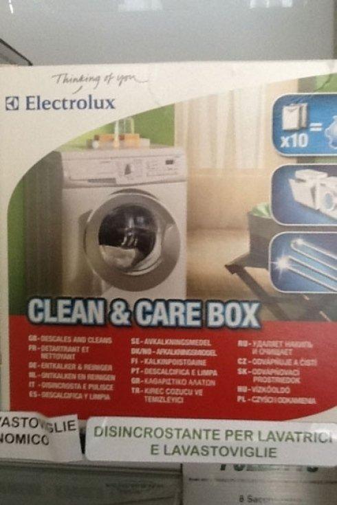 Il kit disincrostante per lavastoviglie e lavatrice.