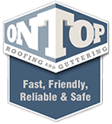 on top roofing and guttering logo