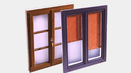 infissi in legno, doppi vetri