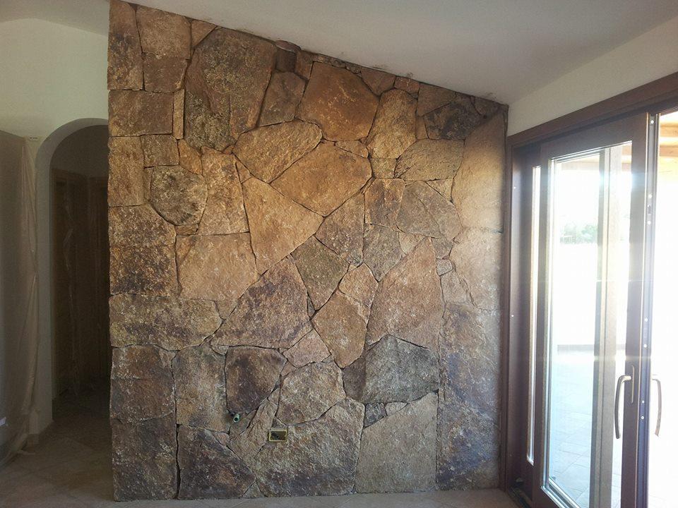 Pietre muro interno good parete televisione con pietre casa