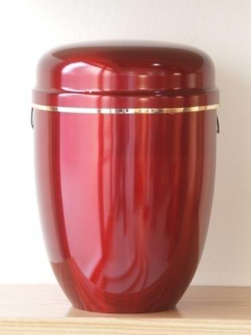 Urna cineraria rosso ciliegia