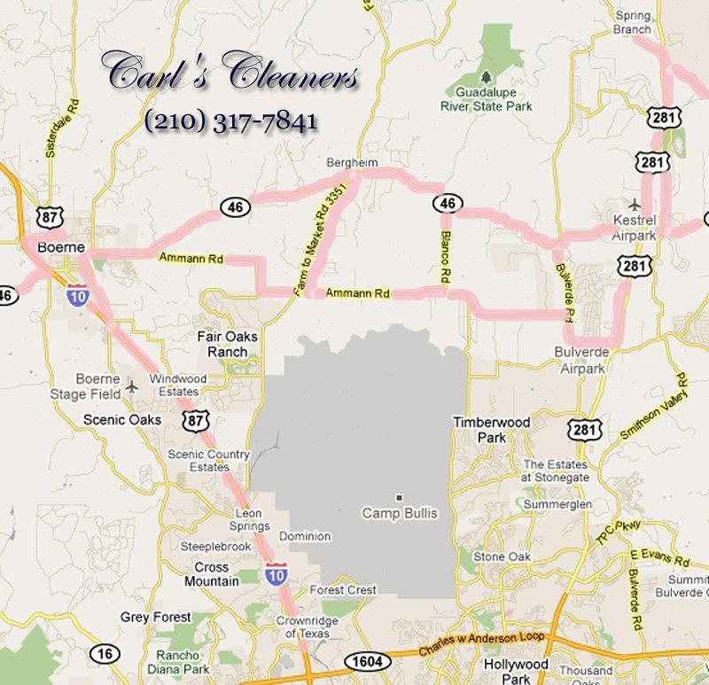 Carl's Cleaners, dry cleaning, Boerne, Texas