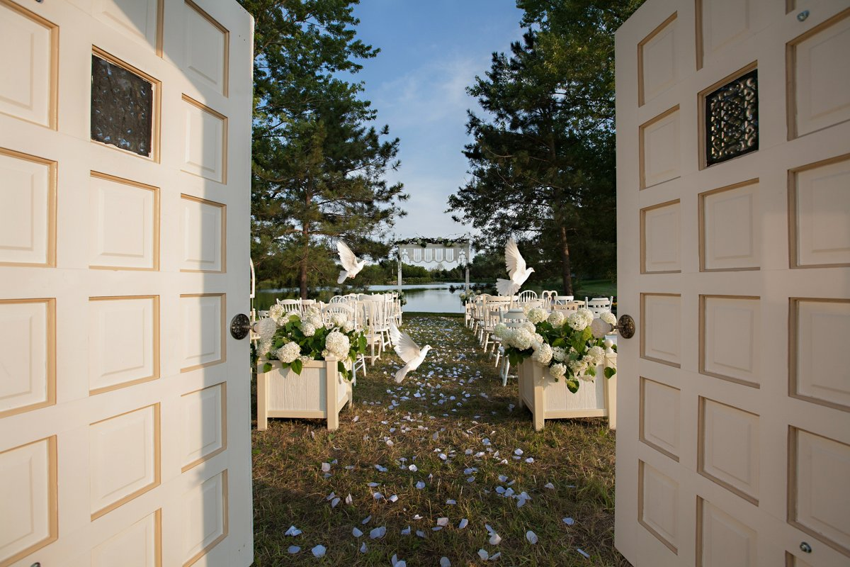 garden lake ceremony chicagoland