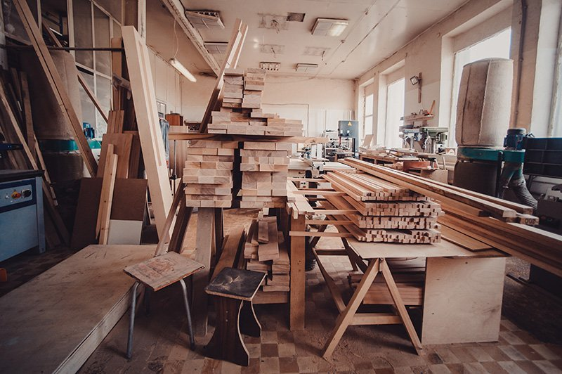 Laboratorio per la lavorazione del legno