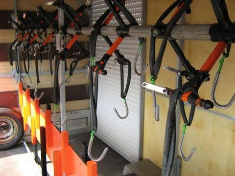 bike rack transport hire