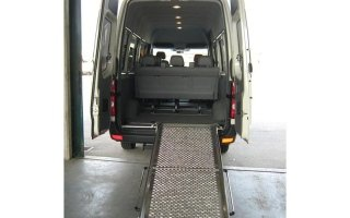 van with walkway