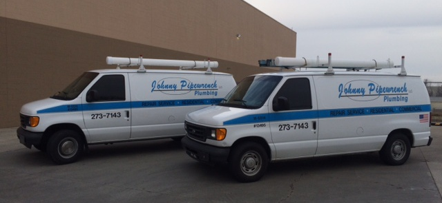 Plumber contractors' vans in Lexington, KY