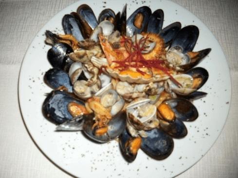 cozze e crostacei