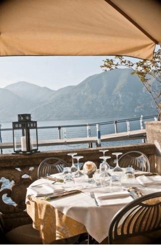 cenare vista lago