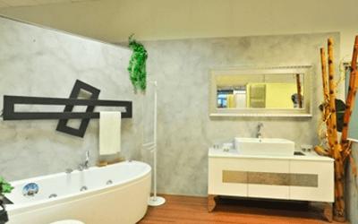 mobili bagno bianco e legno