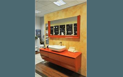 mobili bagno arancioni