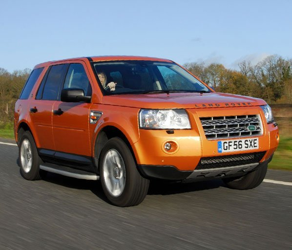 Orange Land Rover