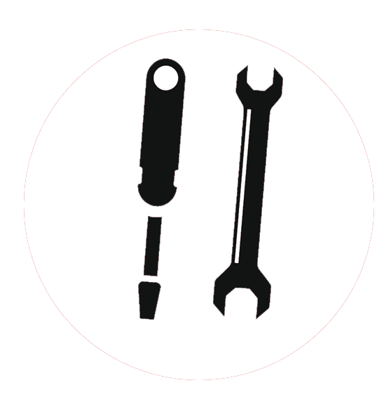 screw driver and wrench icon