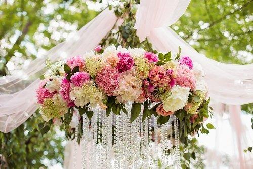 Decorazione floreale per matrimonio