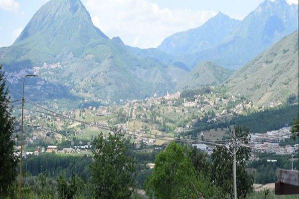 vista delle montagne e delle colline