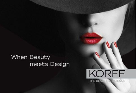modella per pubblicita marchio KORFF