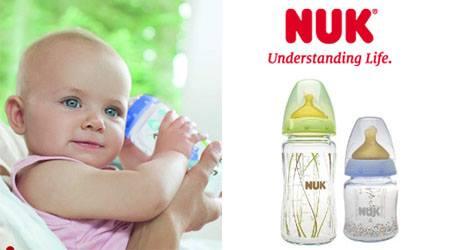 biberon a marchio NUK