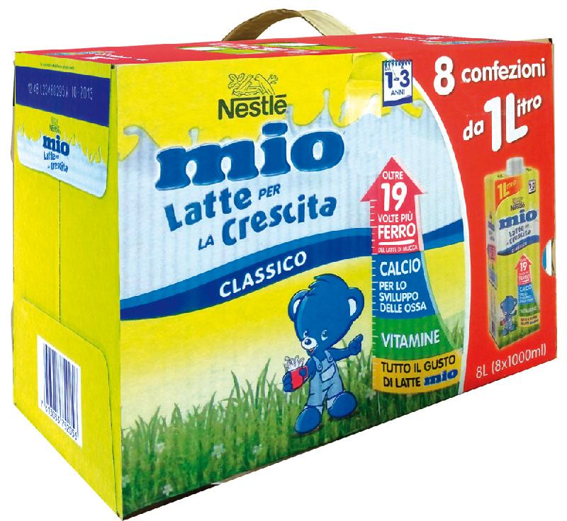 confezione latte per la crescita a marchio Nestle