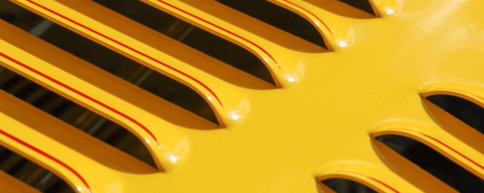 dettaglio auto gialla