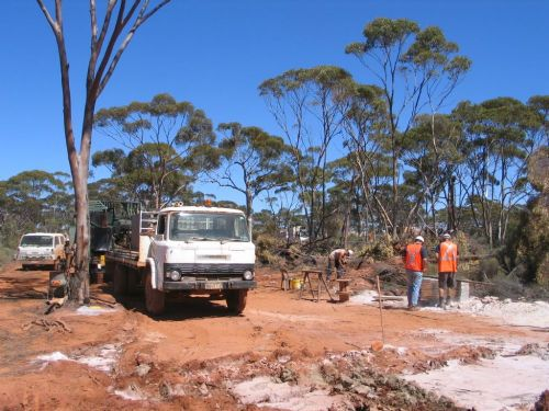 Construction work on site