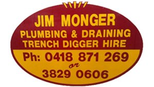 jim monger plumbing and draining logo
