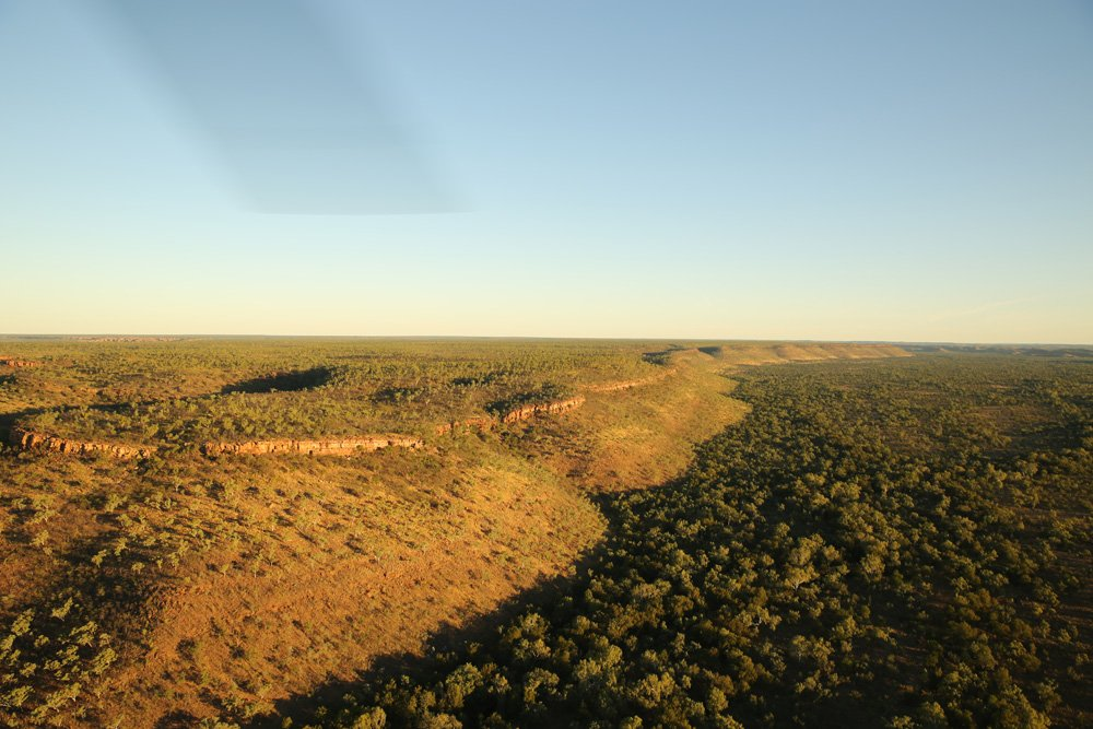 Aerial view of the landscape