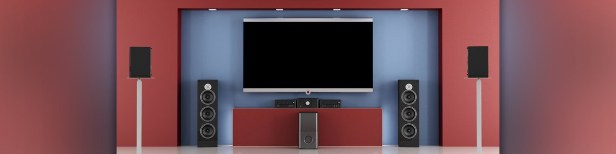 a and r electronics led tv and vertical bar speakers