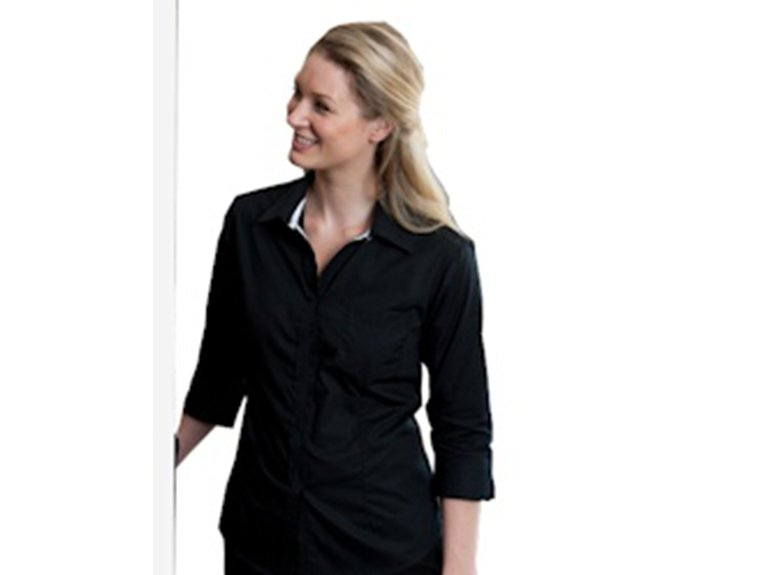 ballaratembroidery Contrast Placket Sleeve Shirt