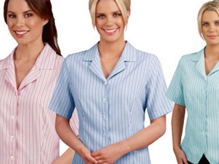 ballaratembroidery Ezylin Health Care Stripe Shirts