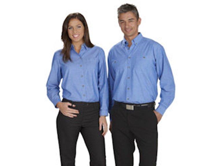 ballaratembroidery Wrinkle Free Chambray Shirt