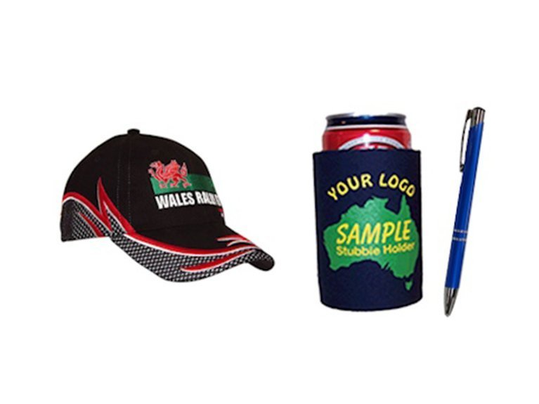 ballarat embroidery team workwear caps pens and stubby holder
