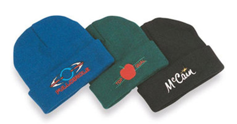 Ballarat Embroidery caps coloured beanies
