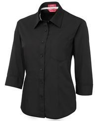 ballarat embroidery ladies contrast placket shirt