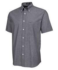 ballarat embroidery ss fine chambray shirt
