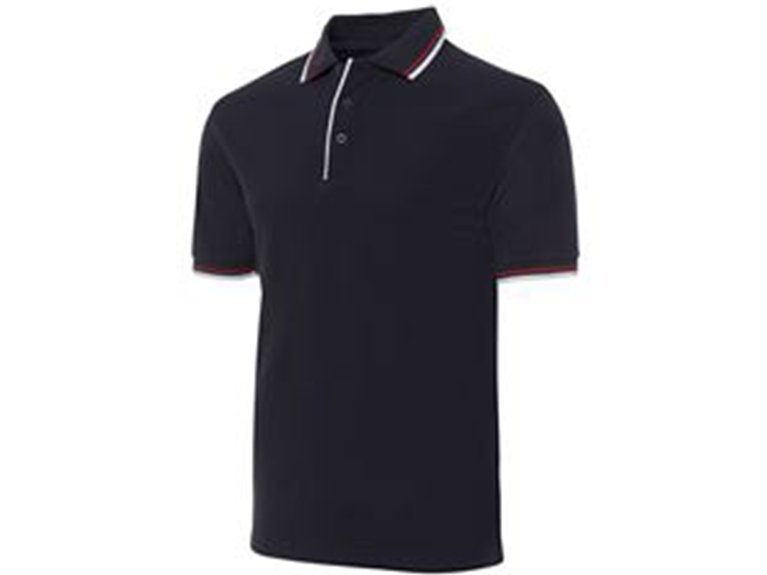 ballarat embroidery team and workwear double contrast polo